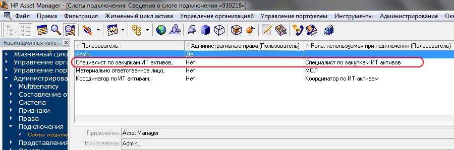 Рисунок 8.  Информация об утилизации лицензий на основе принадлежности пользователя к группам